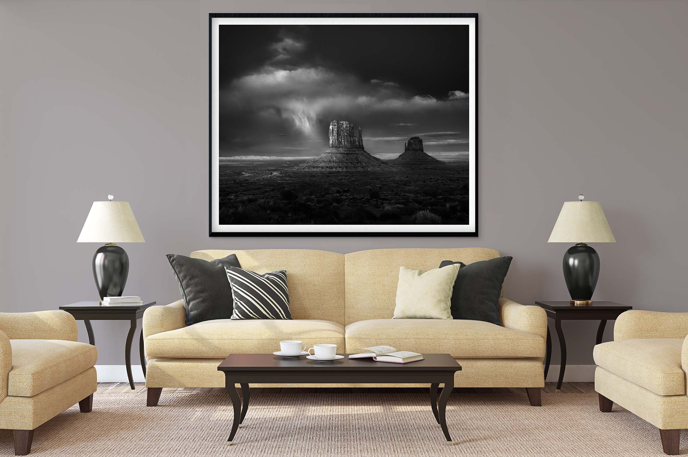 monument valley black and white landscape fine art photography